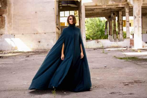 women s blue long sleeved dress