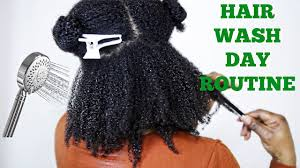 Full Natural Hair Wash Day Routine | 4A 4B 4C Hair | JumieAnne - YouTube
